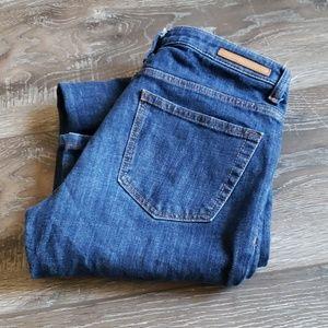Zara dark blue Jeans  27x31 6 Flare slim fit